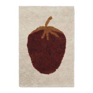 Barnmatta FRUITICANA jordgubbe small, Ferm Living