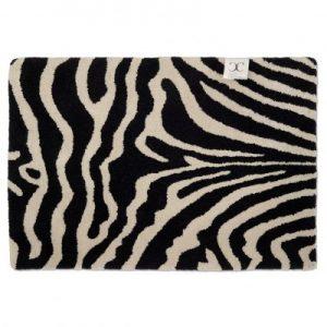 Dörrmatta Zebra Svart/Vit 60×90 cm