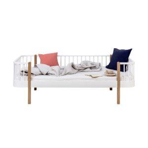 Dagbädd Wood Collection vit/ek, Oliver Furniture