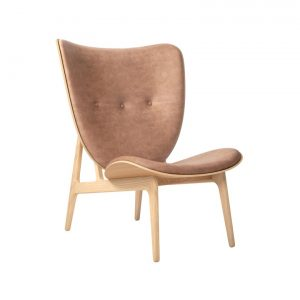 Elephant Chair ek / brunt läder, Norr11