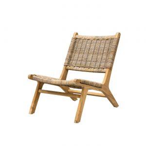 Lounge stol CLUB teak w/rope, Nordal