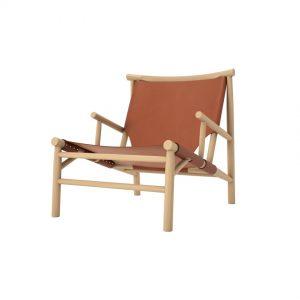 Lounge stol Samurai Chair – Cognac läder, Norr11
