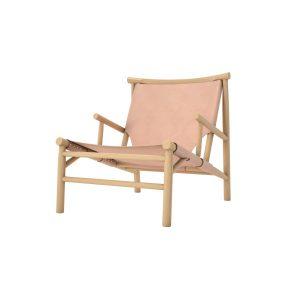 Lounge stol Samurai Chair – natur läder, Norr11