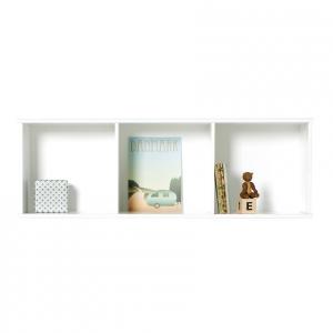 Wood bokhylla 3 x 1 för vägg, Oliver Furniture