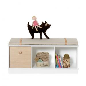 Wood bokhylla 3 x 1 med sockel, Oliver Furniture