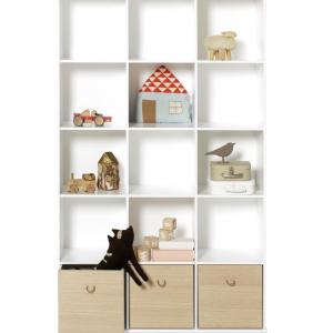 Wood hylla vertikal 3 x 5 sockel, Oliver Furniture