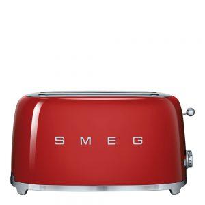 50's Style Brödrost 4 skivor Röd