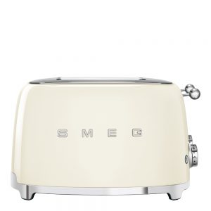 Smeg – 50's Style Brödrost kvadrat 4 skivor Creme