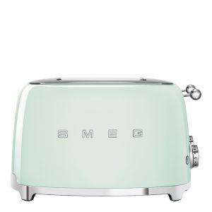 Smeg – 50's Style Brödrost kvadrat 4 skivor Grön