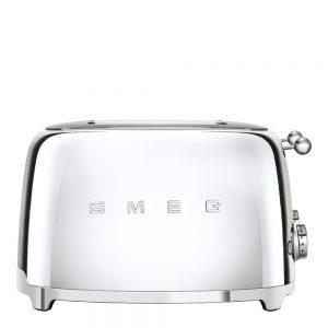Smeg – 50's Style Brödrost kvadrat 4 skivor Krom
