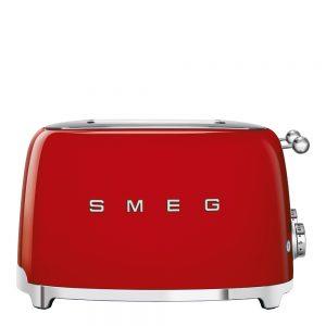 Smeg – 50's Style Brödrost kvadrat 4 skivor Röd
