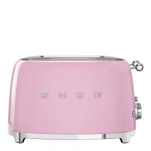 Smeg – 50's Style Brödrost kvadrat 4 skivor Rosa