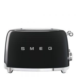 Smeg – 50's Style Brödrost kvadrat 4 skivor Svart