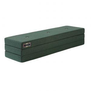 Dagbädd KK 3 fold XL 200 cm Djupgrön/ ljusgrön, KlipKlap
