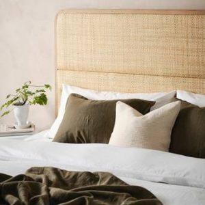 BYRUM sänggavel 160 cm Ljust trä