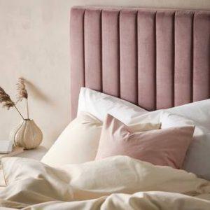 DERBY sänggavel 120 cm Ljus ljungrosa