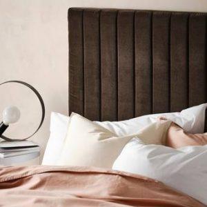 DERBY sänggavel 120 cm Mörk brungrå