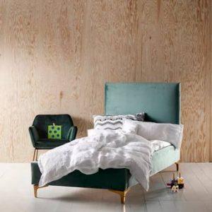 LORIENT barnsäng 70×160 cm Ljusgrön