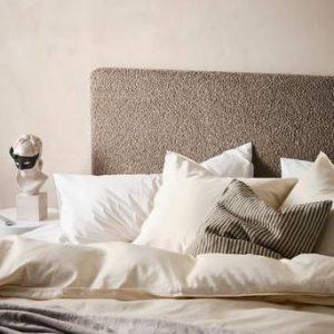 RINGVIDA sänggavel 160 cm Grå