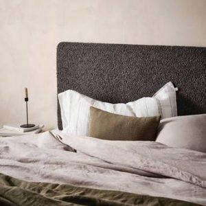 RINGVIDA sänggavel 180 cm Kolgrå