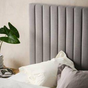 DERBY sänggavel 120 cm Cementgrå