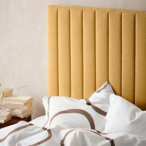 DERBY sänggavel 120 cm Currygul