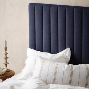 DERBY sänggavel 120 cm Gråblå