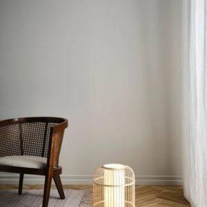 ALBERTA golv/bordslampa Naturvit/vit