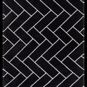 AMARILLO slätvävd matta 200×300 cm Svart/vit