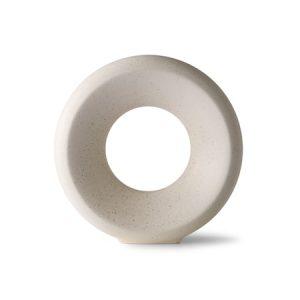 Circle Ceramic Vas M White Speckled