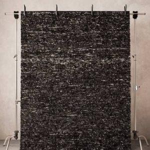 ENNA ullmatta 200×300 cm Svartmelange