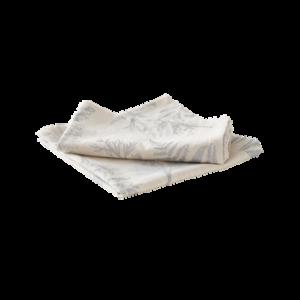 FERN servett 2-pack Silvergrå