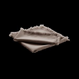 HENLEY servett 2-pack Gråbrun