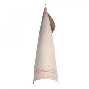 Växbo Lin – Handduk Oblekt 50×70 cm Röd/Oblekt
