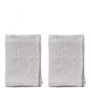 Aida – Raw Diskhanddukar 2-pack 50×70 cm Ljusgrå