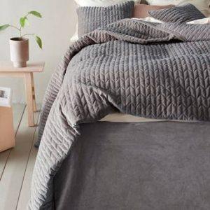 TILY bäddpaket – enkelsäng 90 cm, sängkappa 60 cm Grå