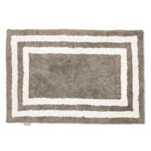 Badrumsmatta Firenze 60×90 Simply Taupe/Vit