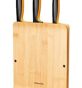 FF Knivblock i Bambu med 3 knivar