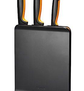 FF Knivblock i plast med 3 knivar