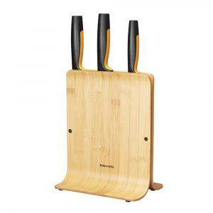 Functional Form Knivblock med 3 Knivar Bambu