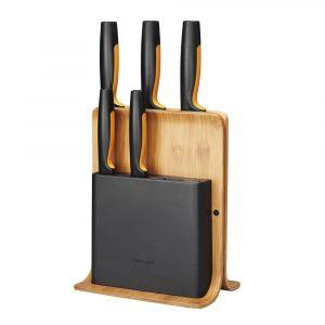 Functional Form Knivblock med 5 knivar Bambu