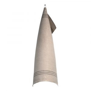 Växbo Lin – Handduk Oblekt 50×70 cm Svart/Oblekt