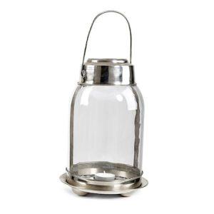 Hurricane Memory Ljuslykta Nickel/Glas Silver 25 cm