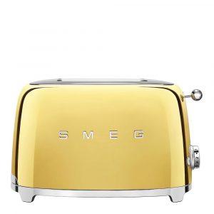 50's Style Brödrost 2 skivor Guld