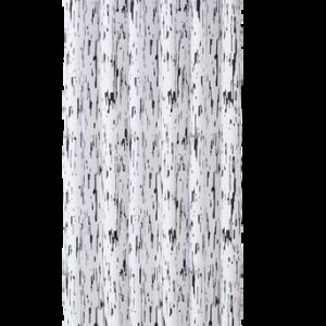 BIRCH duschdraperi Vit/svart