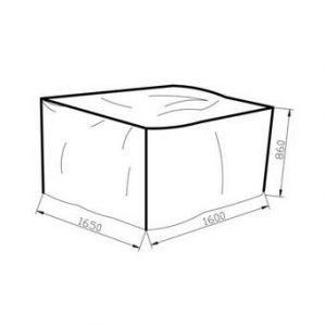 Möbelskydd 165*160*86 grå