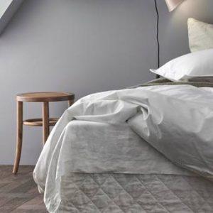 Sängkappa Candice Quilted i tvättat lin, höjd 30 cm