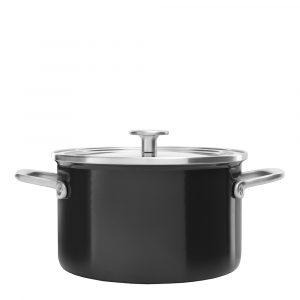 KitchenAid – Steel Core Enamel Gryta Emalj/Glaslock 3,7 L Svart