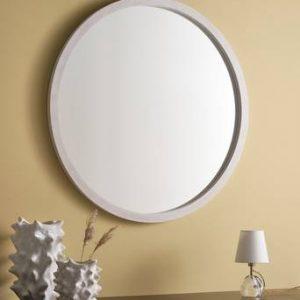 MELINDA spegel – ø 100 cm Vit