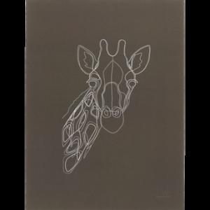 GIRAFFE PORTRAIT poster 30×40 cm